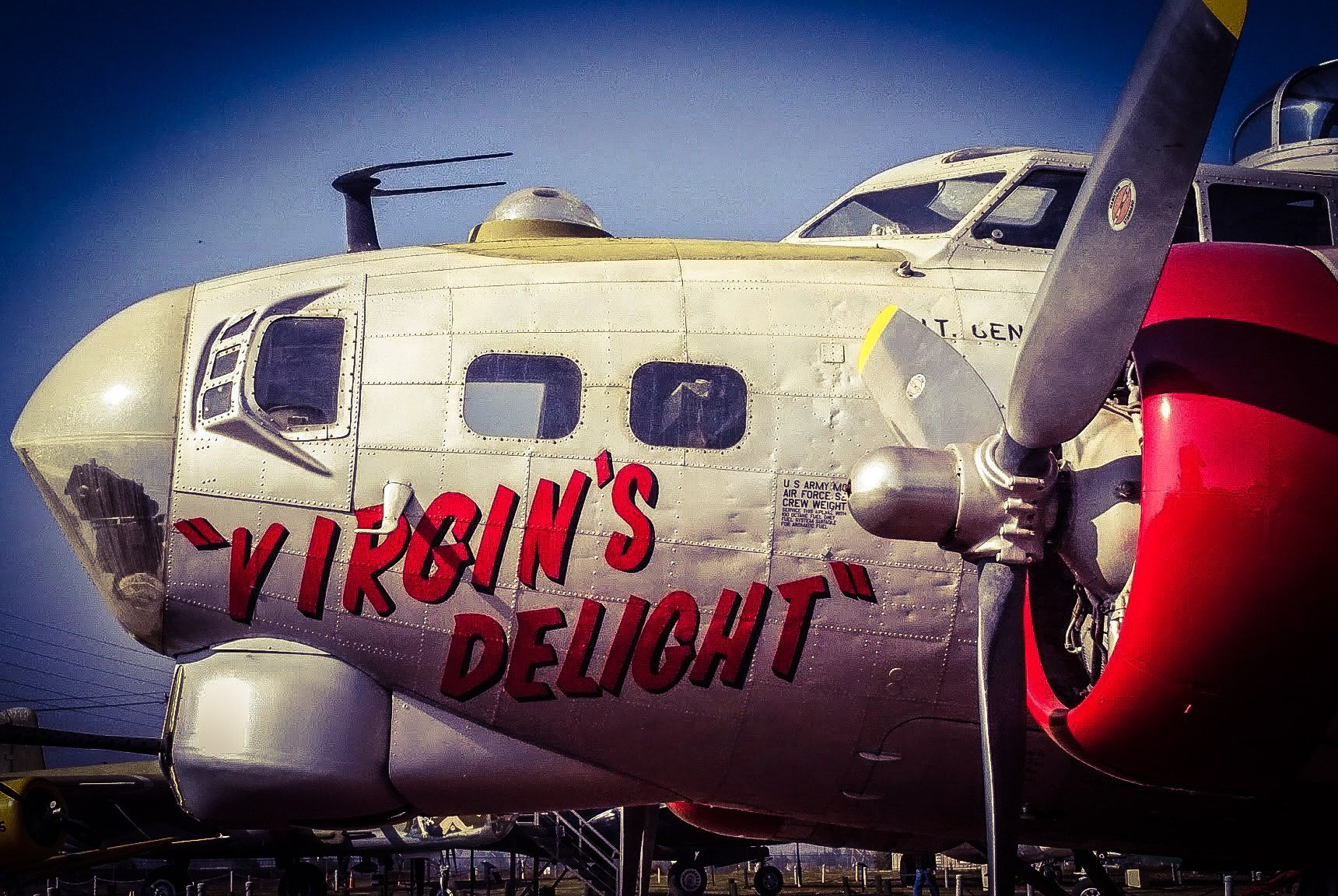 """Boeing B17 Flying Fortress """"Virgin's Delight"""" on display"""