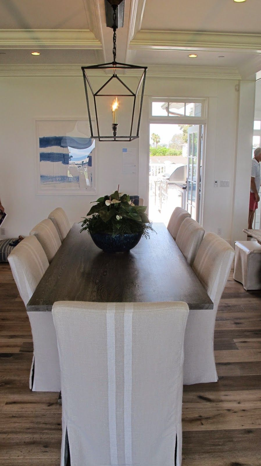 Nautical Dining Room Chair Covers nauticalnature | coastal living showhouse: kitchen/living/dining