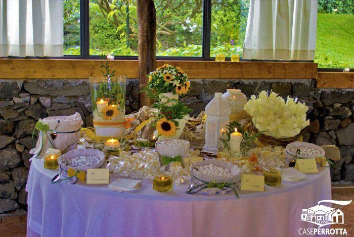 Segnaposto Matrimonio Tema Girasoli : Allestimento confettata con girasoli confettate matrimonio shabby