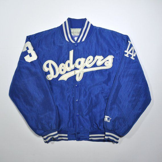 a81f97d4a Rare Vintage 80s 90s DODGERS STARTER Satin Bomber Varsity Jacket / MLB Los  Angeles Dodgers Baseball Classic Retro Hypebeast Streetwear