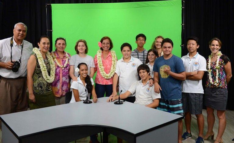 Inauguration du studio audiovisuel du ministère de l'Education