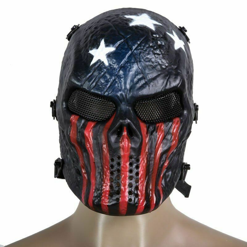 Halloween Masks Airsoft Paintball Full Face Protection Party Skull Face Mask Ad Ad Paintball Full Airsoft Airsoft Mask Skull Mask Mask