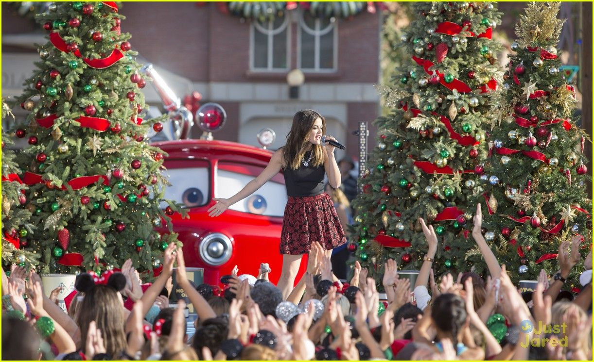 Lucy Hale Brought Christmas To Cars Land For Disney Parks' Frozen Christmas Celebration - See The Pics!