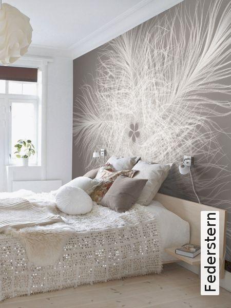 Federstern Tapeten, Schlafzimmer und Schlafzimmer ideen - moderne tapeten schlafzimmer
