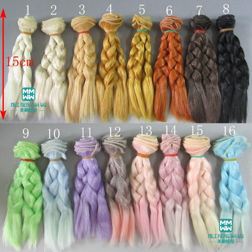 Photo of US $1.74 38% OFF|1pcs 15cm&25cm*100CM Doll wigs/hair Braid h…