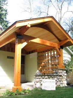 Timber frame porch timber frame home pinterest for Timber frame porch addition