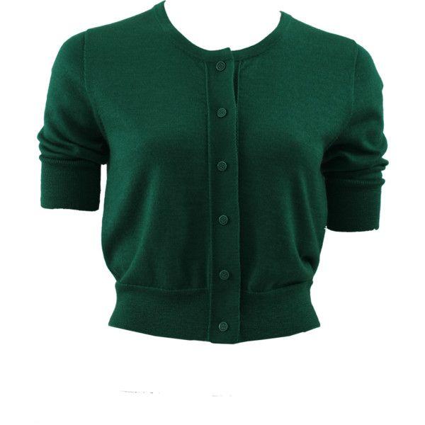 OSCAR DE LA RENTA Classic Crop Cardigan ($890) ❤ liked on ...