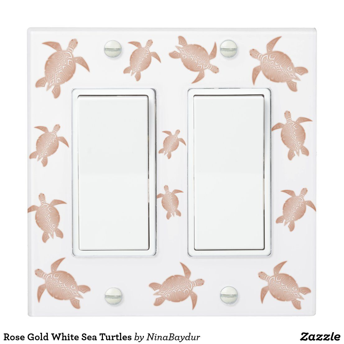 Rose Gold White Sea Turtles Light Switch Cover In 2020 Light Switch Covers White Rose Gold Sea Turtle Decor