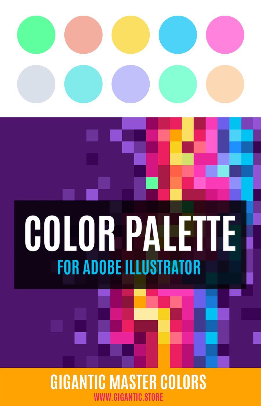Gigantic Master Colors V 2 Color Web Design Flat Design Illustration