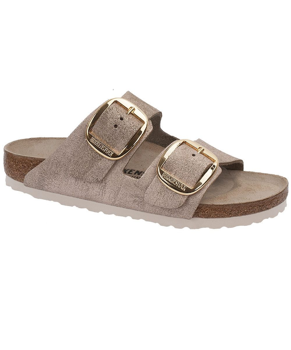 bf19858c1c25 Birkenstock Big Buckle Arizona in Rose Washed Metal Leather. Gold Buckles.   birkexpress
