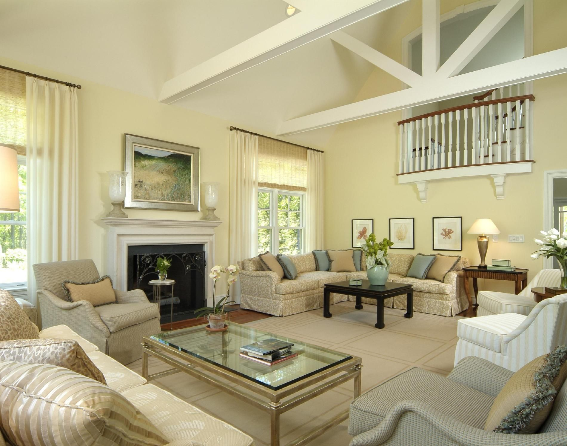 Hampton Style Family Room Hamptons Living