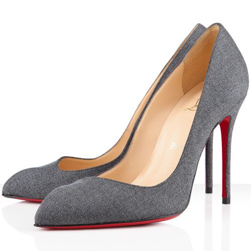 9be60f007bbc Cheap Christian Louboutin Corneille 100mm Flannel Pumps Light Grey Red  Bottom Shoes For Sale