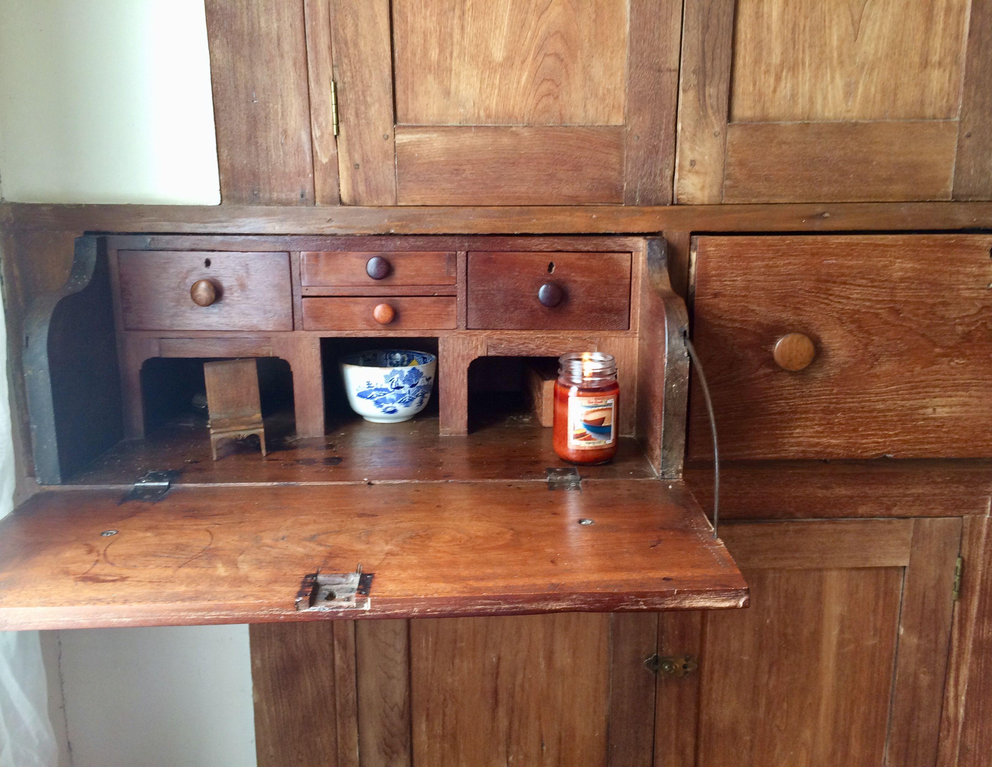 Hidden desk liquor decor