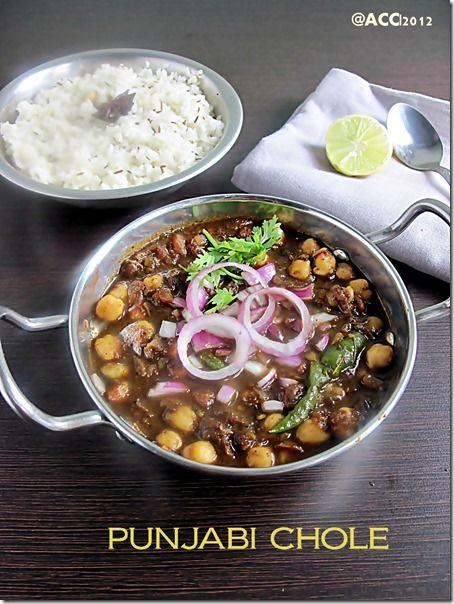 Punjabi chole kids veg recipes pinterest dishes lunch menu punjabi chole recipe the best side dish for kulcha forumfinder Image collections