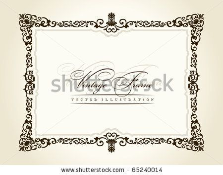 Vector vintage frame retro decor ornament old by Extezy, via Shutterstock
