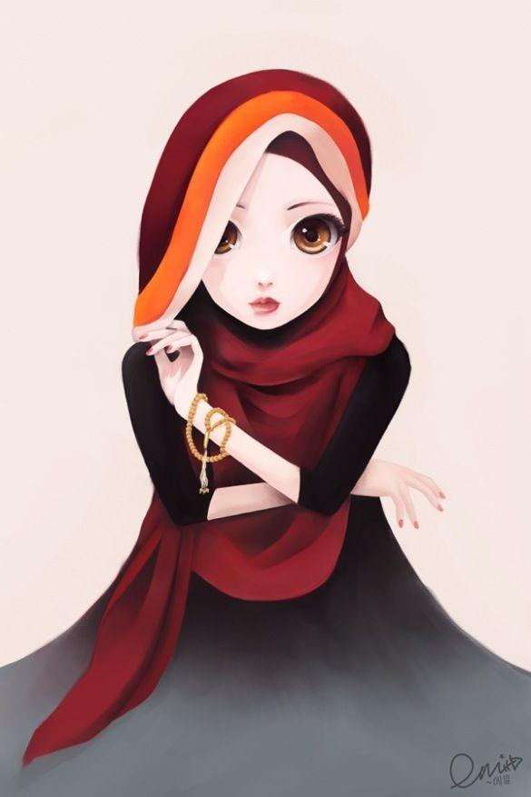 Hijab Girl Hijab Cartoon Anime Muslimah Anime Muslim