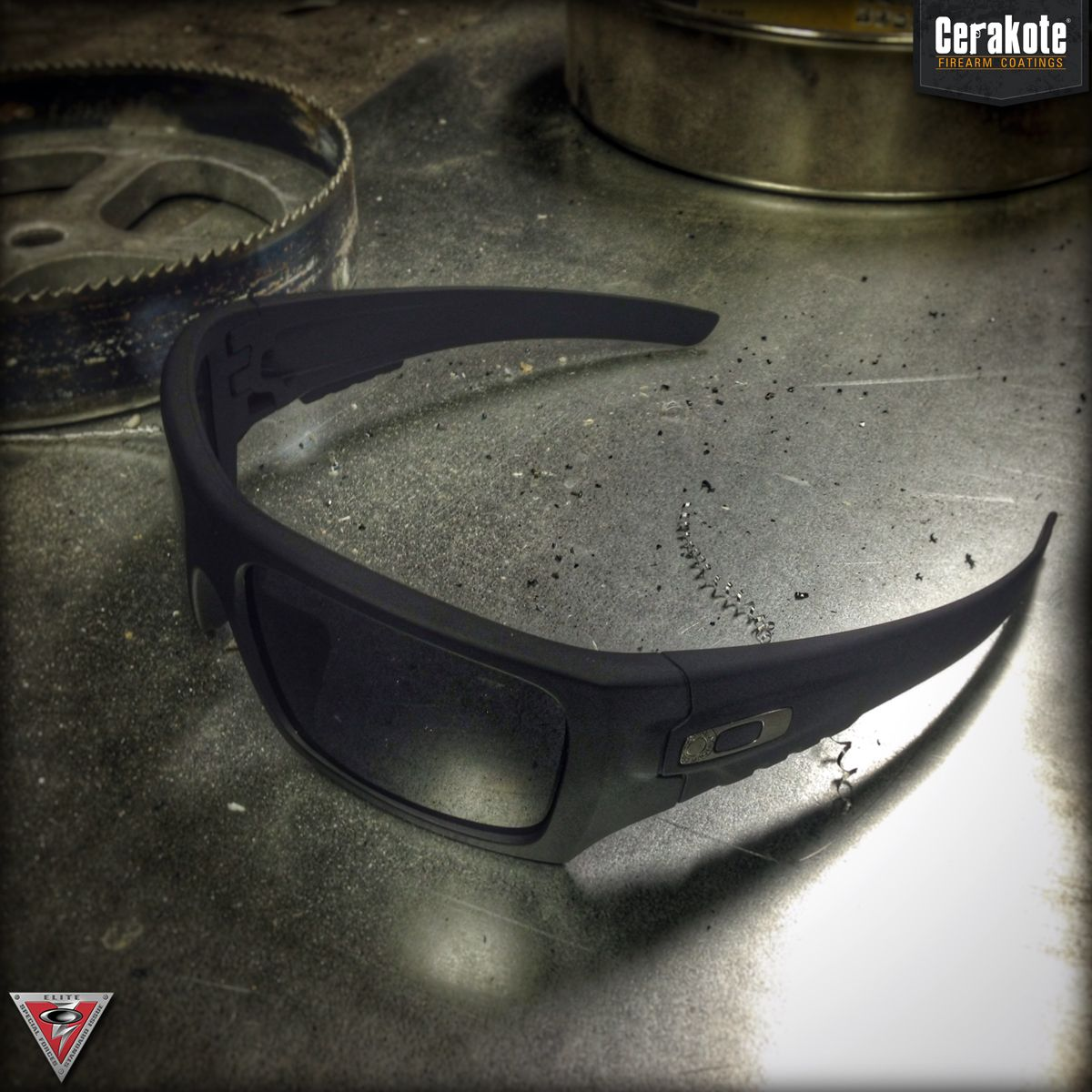 Oakley Standard Issue Det-Cord Sunglasses Featuring Cerakote Graphite Black Coating.