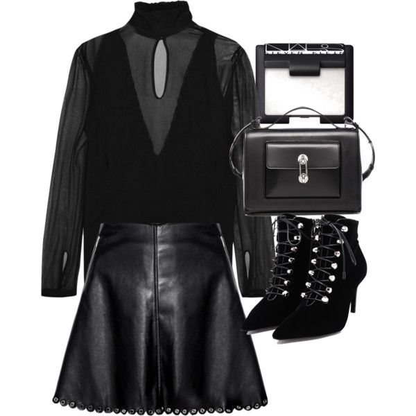 A fashion look from November 2015 featuring Altuzarra blouses, Balenciaga ankle booties and Balenciaga shoulder bags. Browse and shop related looks.