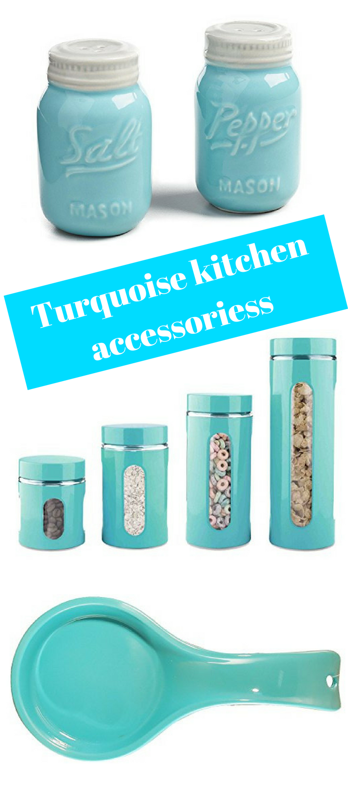 Charming Brighten Things Up With Turquoise Kitchen Accessories