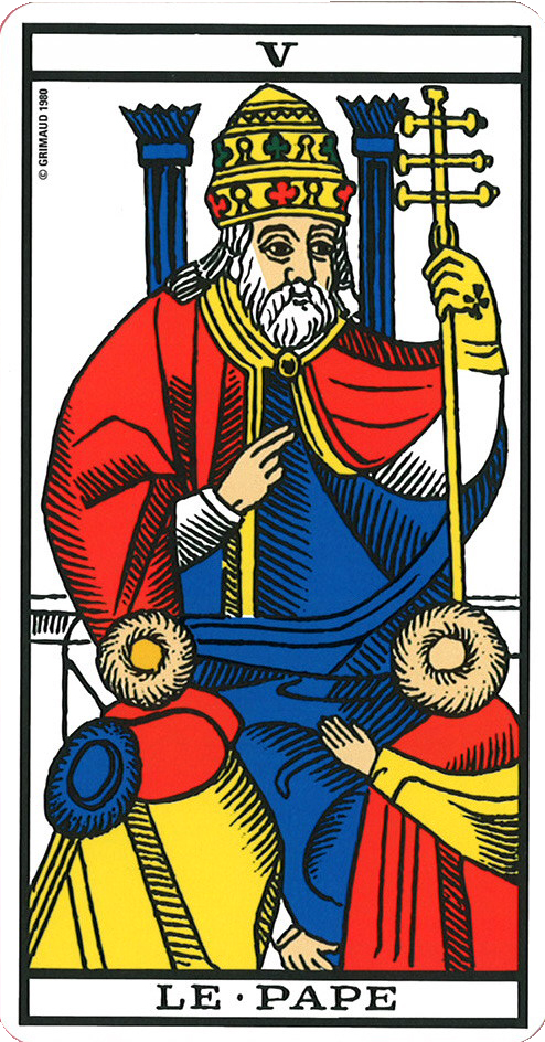 Marseille Tarot Cards 2010: Le Pape - Tarot Of Marseille
