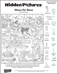 shoes for roos hidden pictures puzzle