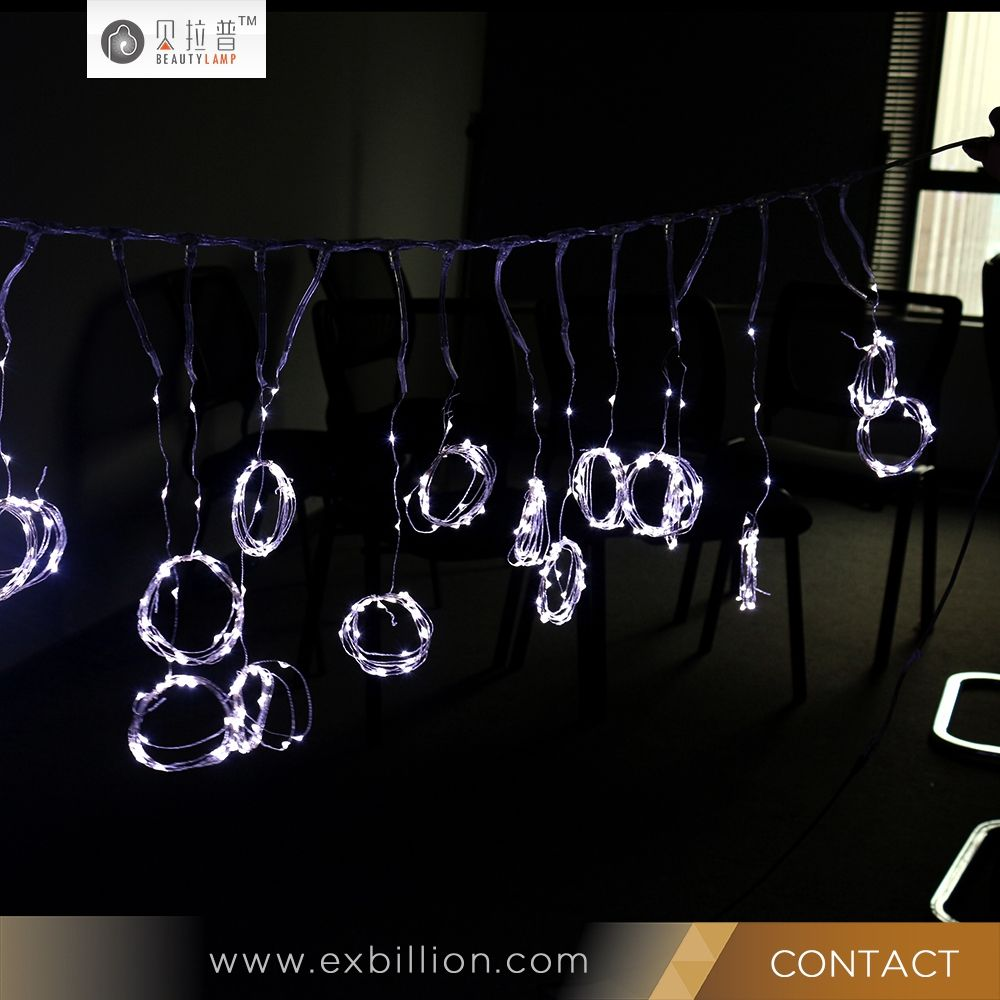 2MX2M 400L Waterproof Christams Fairy Copper Connectable LED Curtain Lights For Wedding