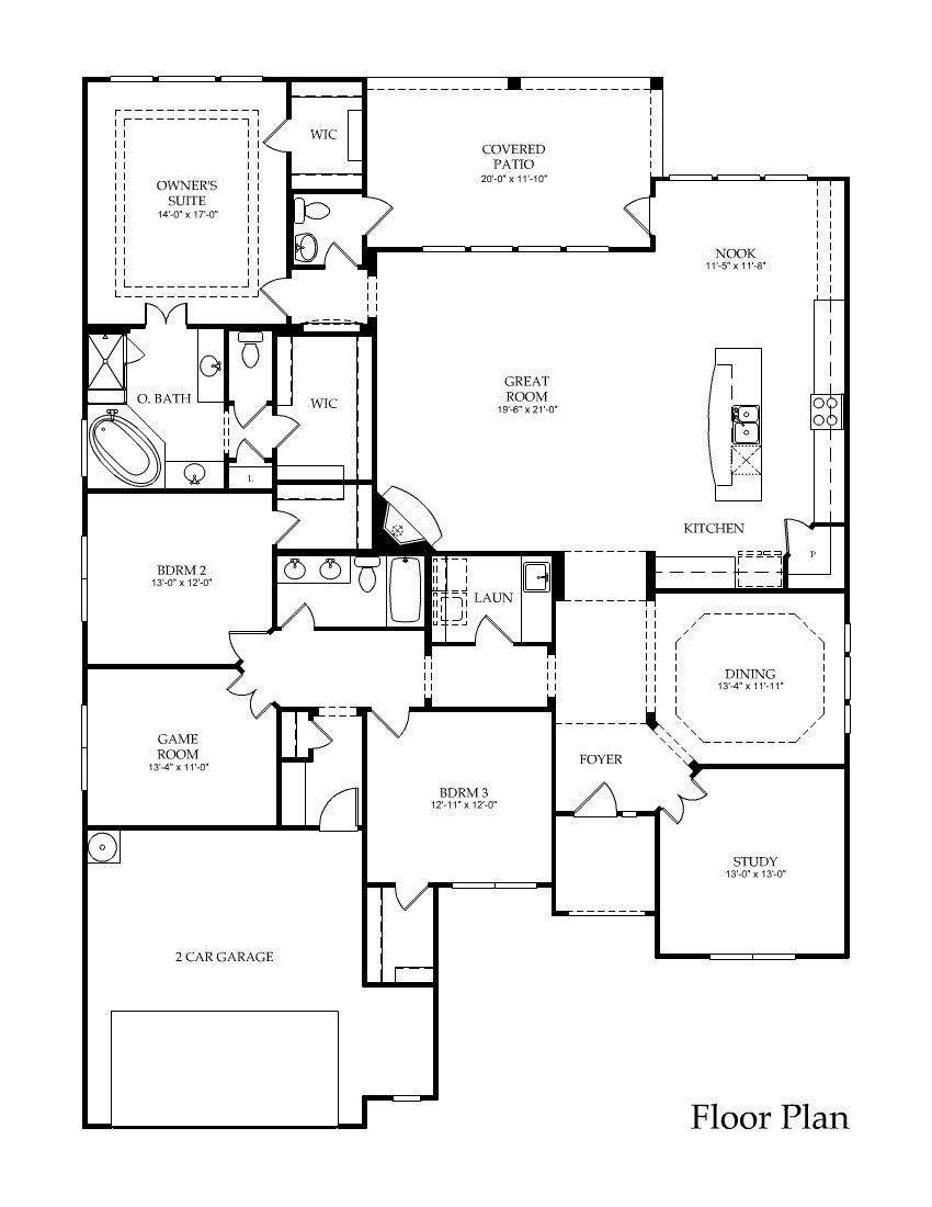 Houston New Homes Houston New Home Builder Pulte Homes One Level House Plans House Floor Plans Garage House Plans