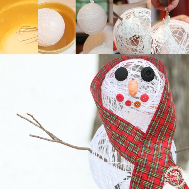 Only sugar, water and string!!!  This is crazy ---> sugar string snowman decoration.