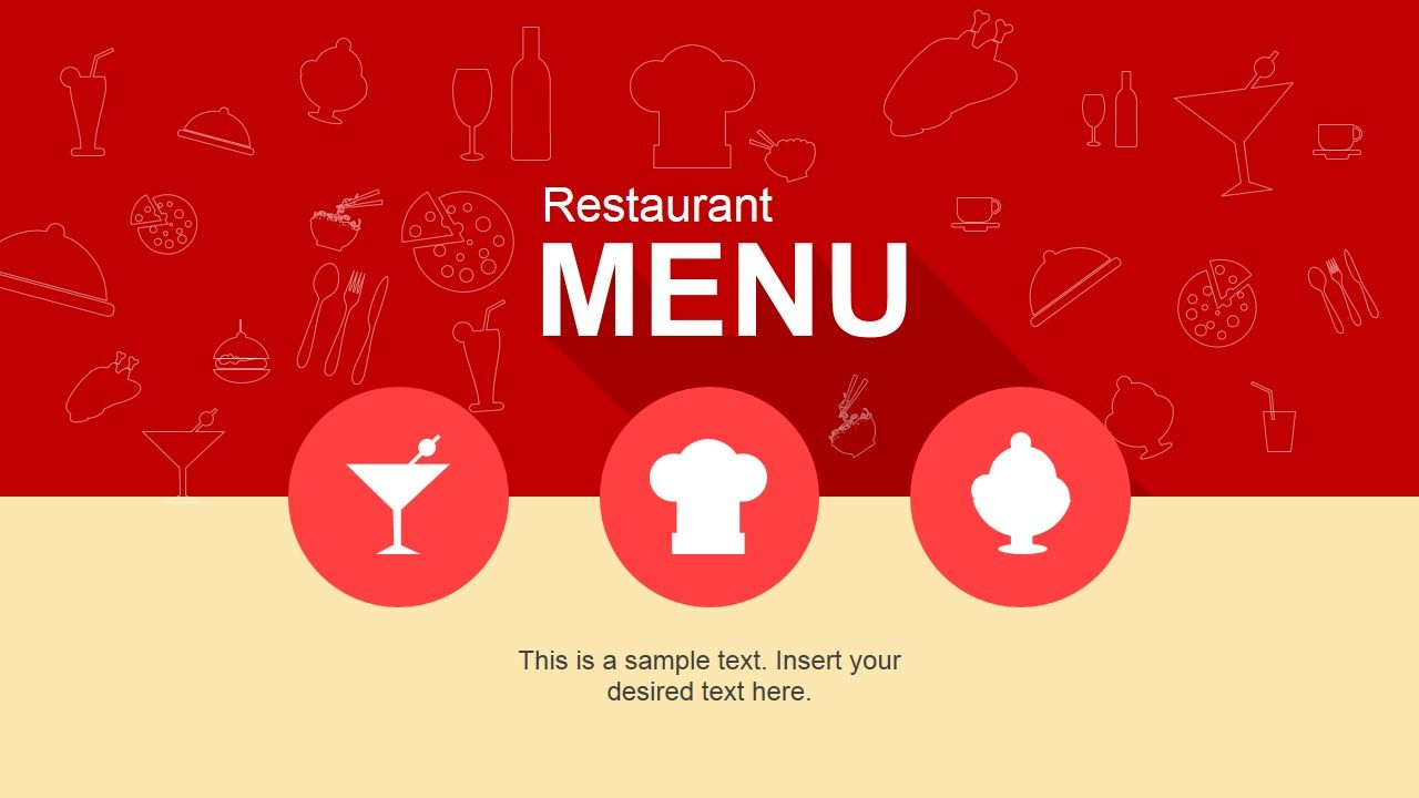 Cool Restaurant Menu Point Template Slidemodel