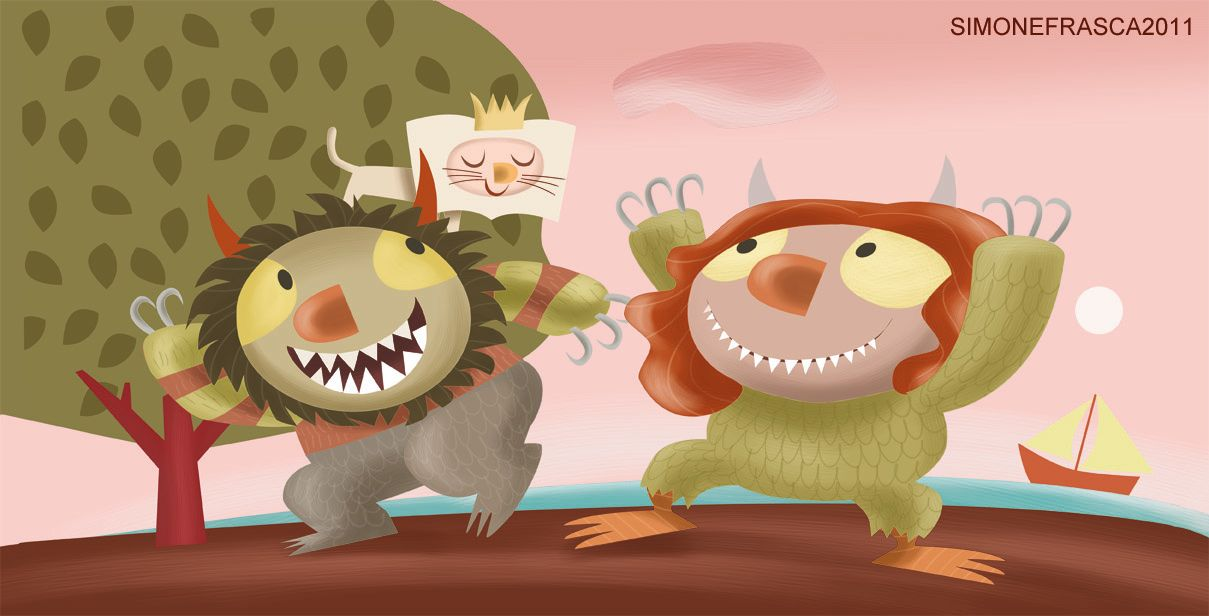 celebrating the 50th Anniversary of WHERE THE WILD THINGS ARE and the wonderful legacy of Maurice Sendak. Work by Simone Frasca