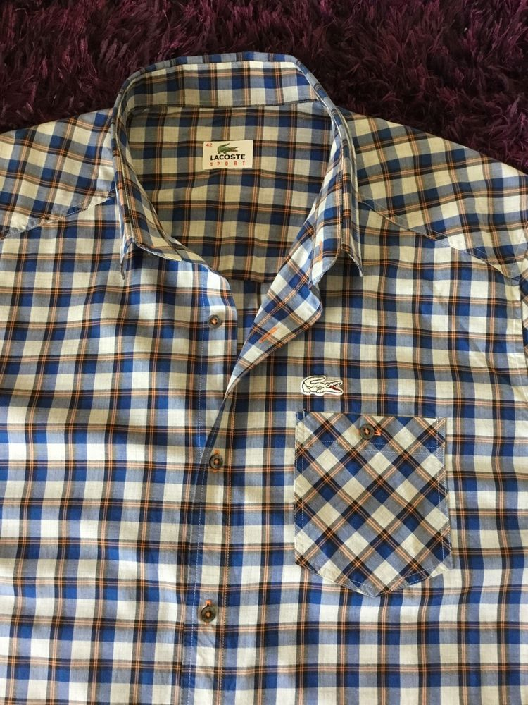 282d0377374cc Super Cool 100% Genuine Mens Lacoste Sport Check Shirt In Size 42 ...