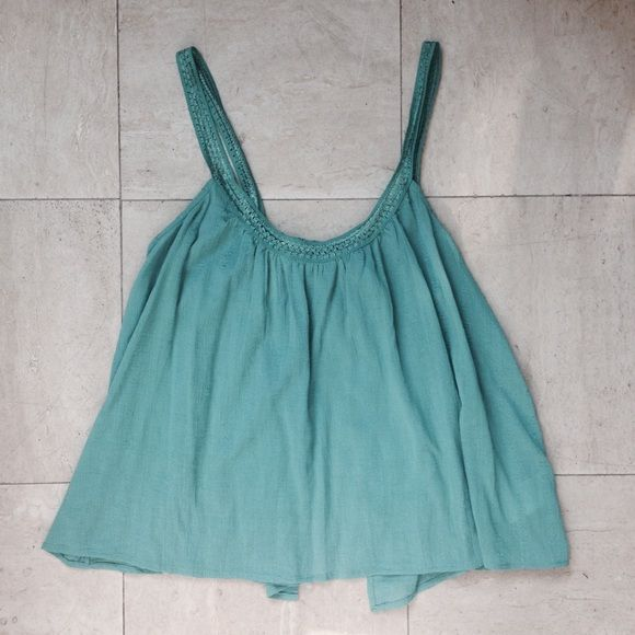 Mint Green Ecote Tank Gorgeous tank with an open back from Urban. Summery and boho chic. Urban Outfitters Tops Tank Tops