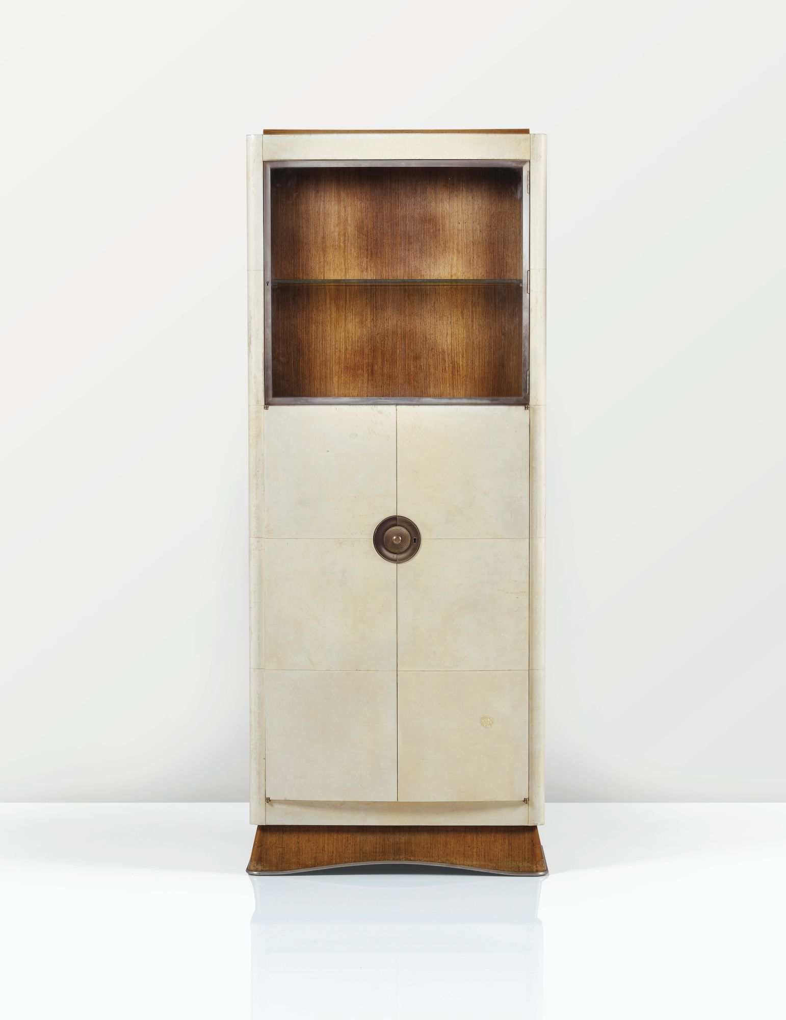 Dominique andré domin marcel genevrière 1883 1962 1885 1967 meuble de collectionneur vers 1930 a vellum rosewood and nickel plated