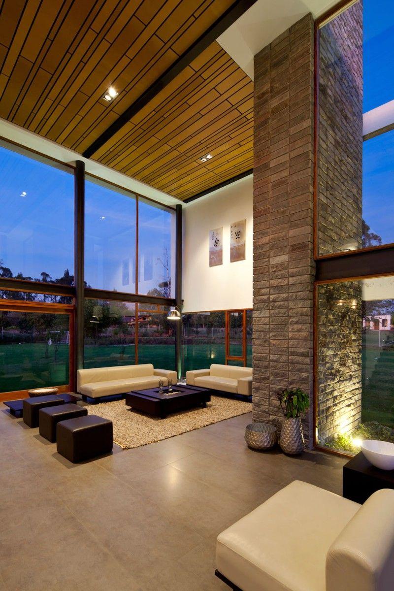 183 casas campestres modernas dise os interiores y for Fachadas de casas interiores