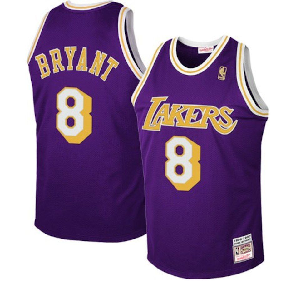 4a4a810f6 Mitchell   Ness Los Angeles Lakers  8 Kobe Bryant Purple 1997 Authentic Hardwood  Classics Road Jersey