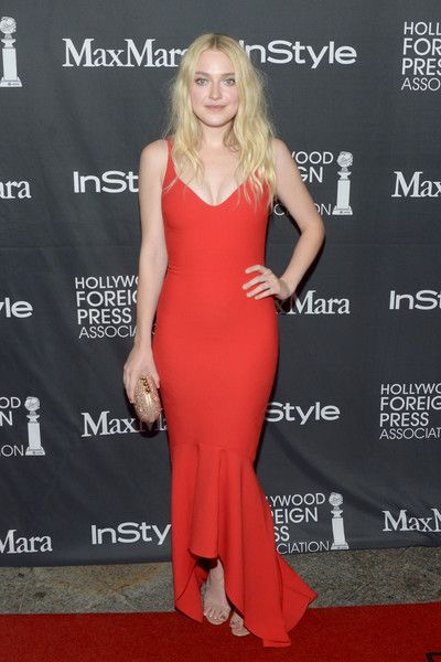 Dakota Fanning In Cinq A Sept At The Tiff Instyle Hfpa Party Best Dressed At