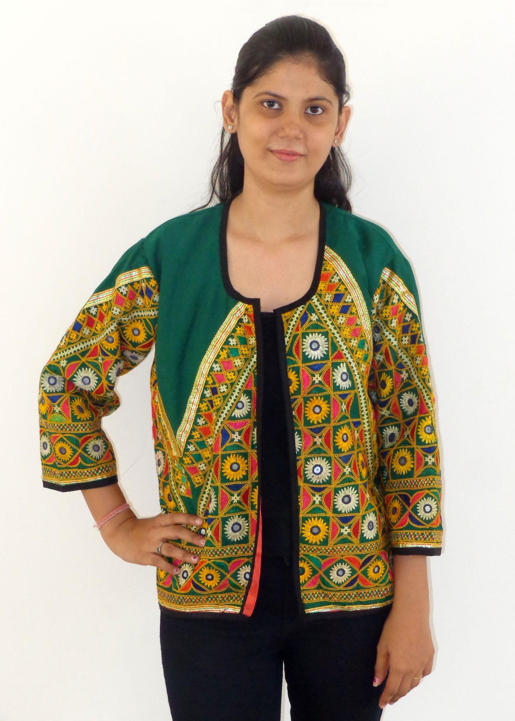 Gujarati girls wear jacket rabari embroidered readymade