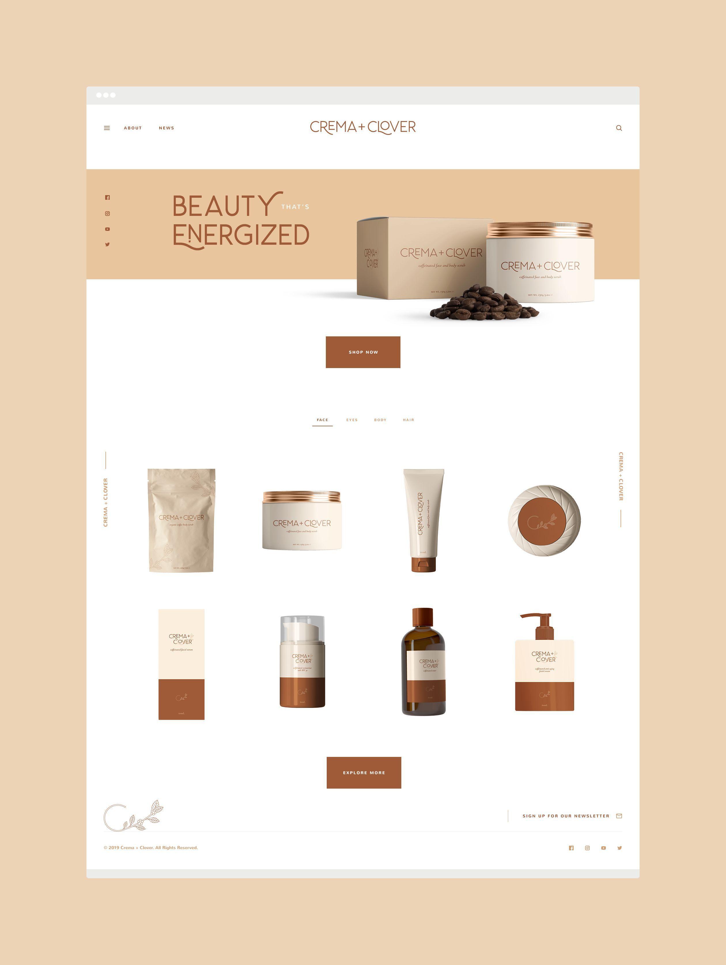Crema And Clover Website Design Assimilation Designs In 2020 Website Design Branding Design Inspiration Website Design Inspiration