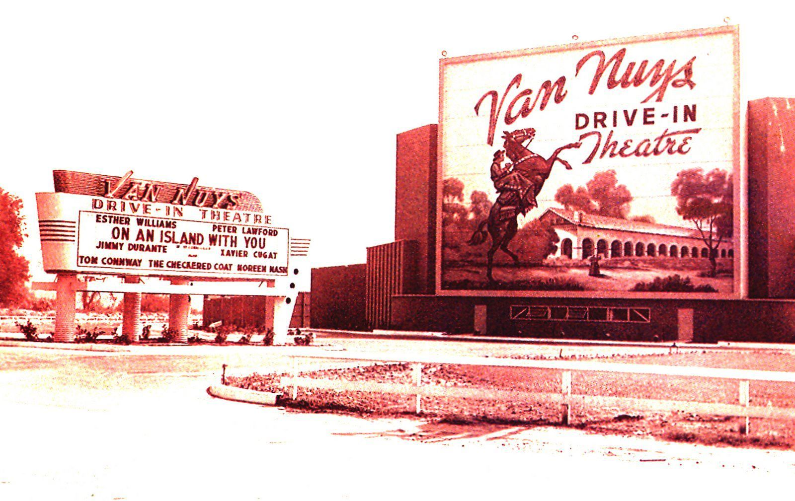 Van Nuys CA....remember drive ins??? (With images) Drive