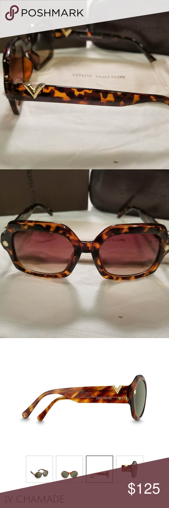 4a6f9c81318 Women s LV Chamade Sunglasses Brown and Gold Women s LV Chamade Sunglasses  Louis Vuitton Accessories Sunglasses