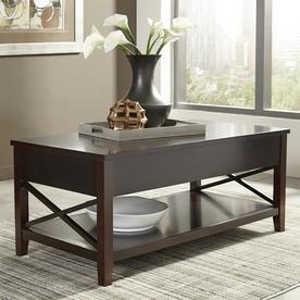Scott Living Espresso Poplar Wood Rectangular Coffee Table 705688