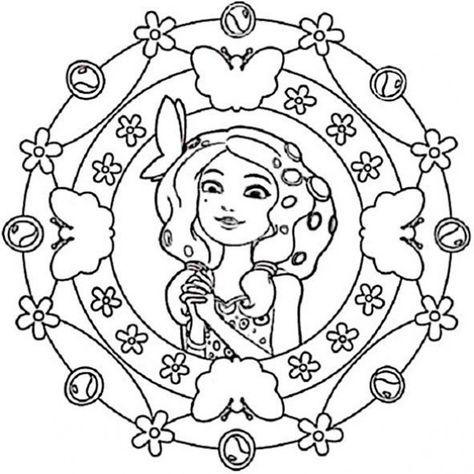 mandala zum ausdrucken mia and me 1 | Mia and Me | Pinterest ...