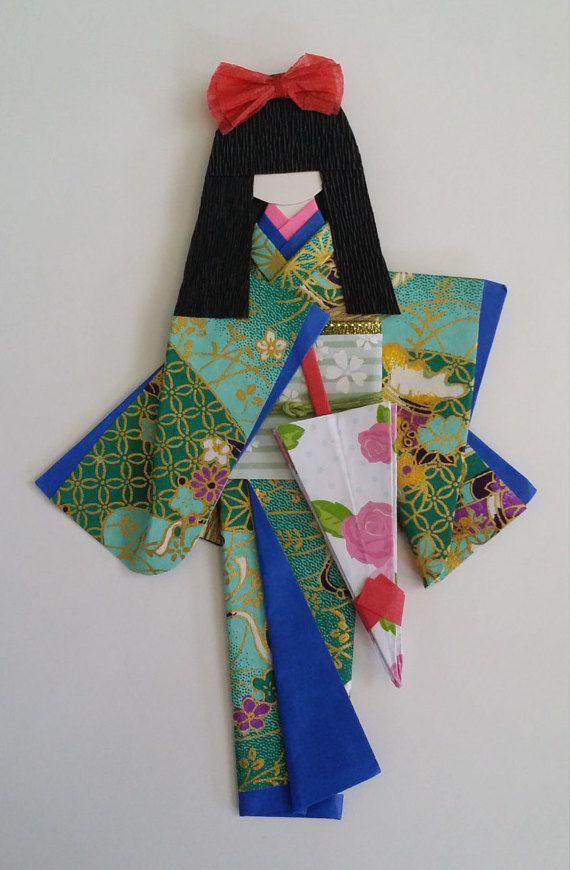 Origami Washi Ningyo Traditional Japanese Kimono By Www Facebook