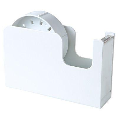 シンプルな卓上テープカッターです。2つのサイズが選べる、大小リール付。