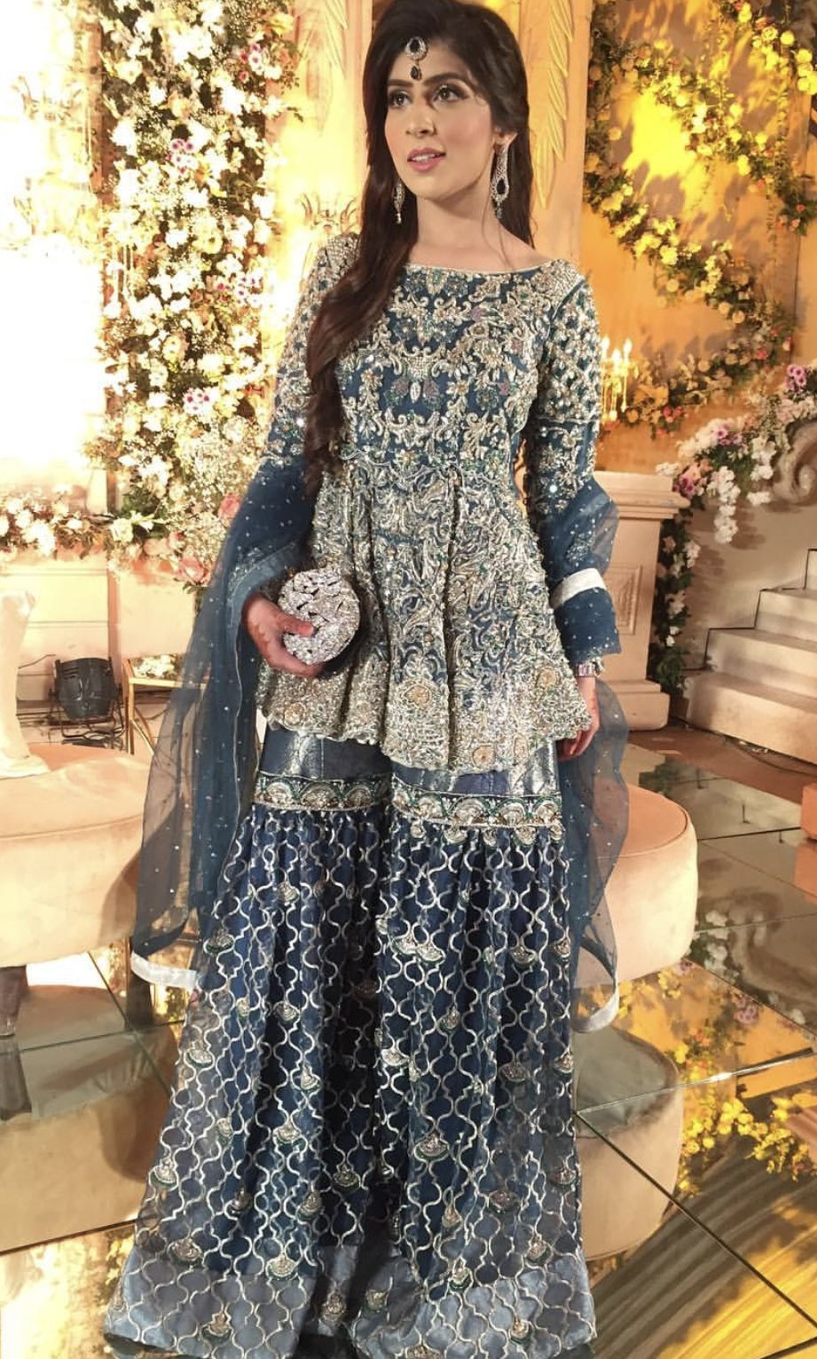 brides sister wearing ahmad sultan at the barat  wedding