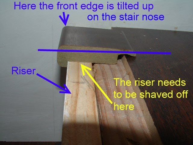 Best Here In This Photo Is How Laminate Stair Nose Is Not Level 640 x 480
