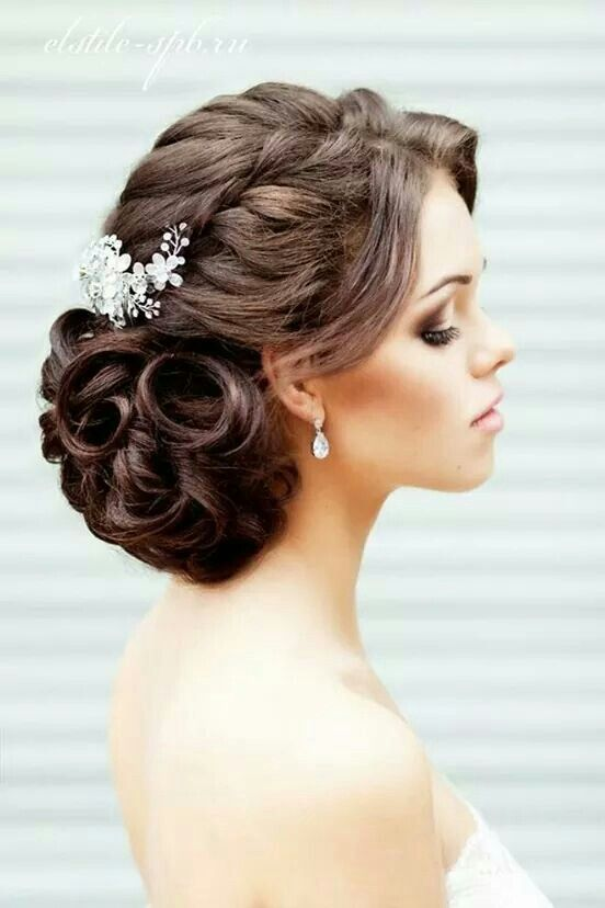 20 Soft and Sweet Curly Wedding Hairstyles | bearss wedding ...