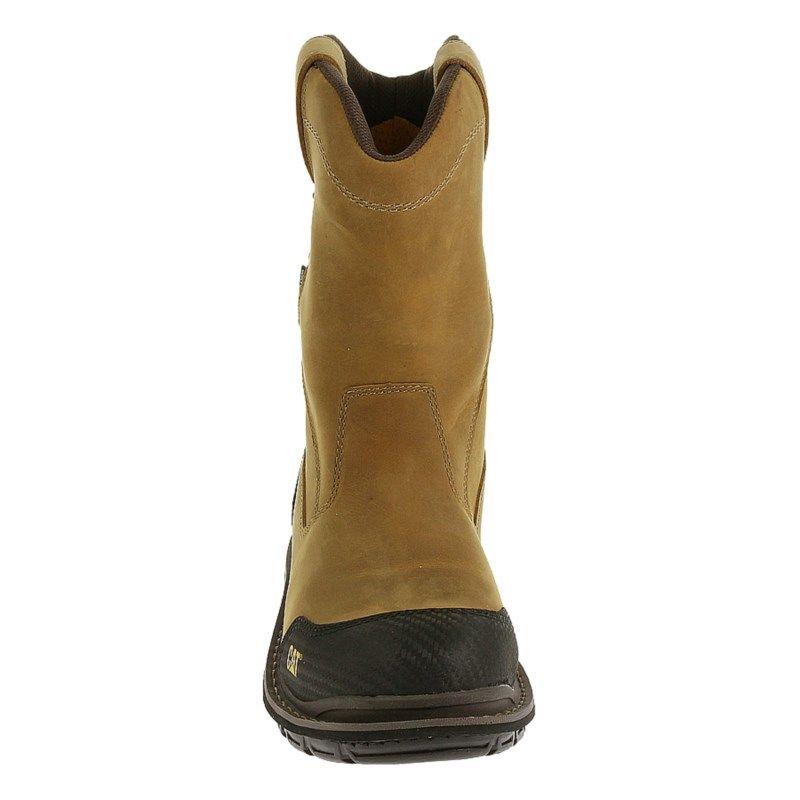 c3ef94cc Caterpillar Men's Fabricate Waterproof Composite Toe Pull On Work Boots  (Dark Beige) - 12.0 W