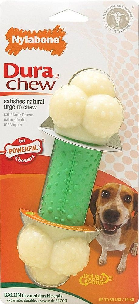 Nylabone Durachew Double Action Chew Bacon Flavor Dog Toy Dog