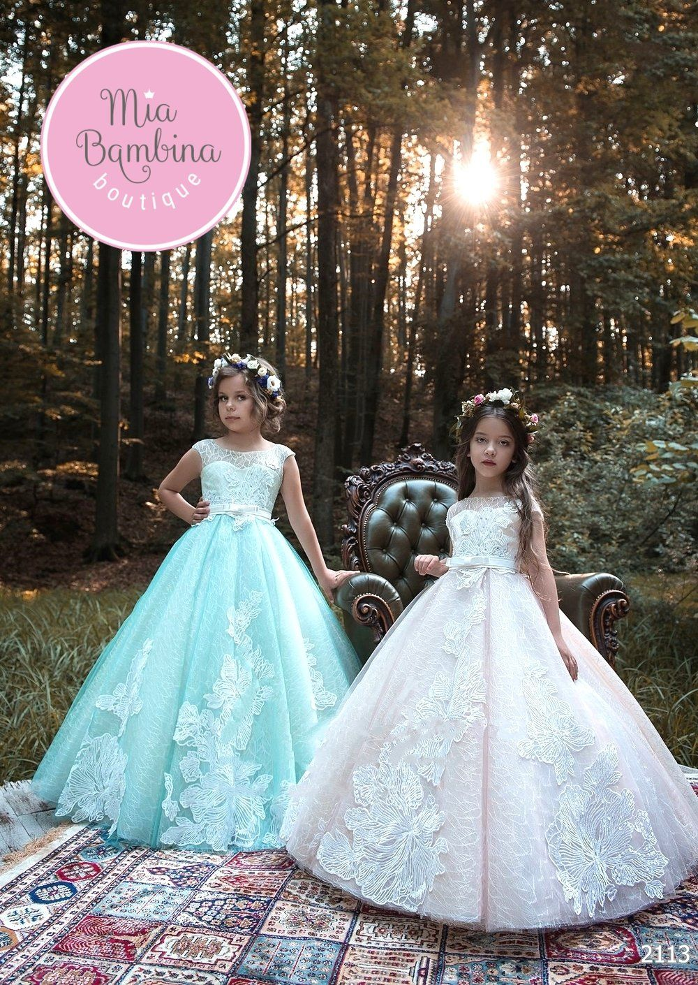 6e39769f5b329c The Regina Flower Girl Dress For Wedding by MB Boutique Canada. The Regina  flower girl ball gown has a princess style appearance.